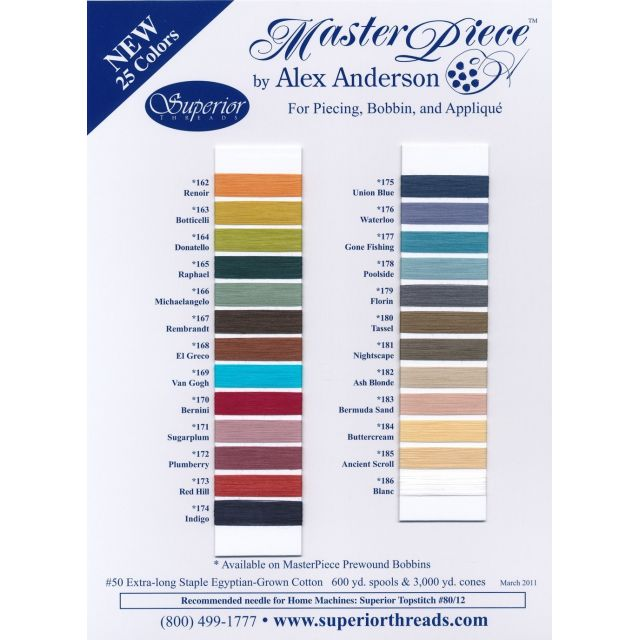 MasterPiece Cotton Thread 600 yds -155 Graystone by Superior Masterpiece Thread Masterpiece Cotton Thread - OzQuilts