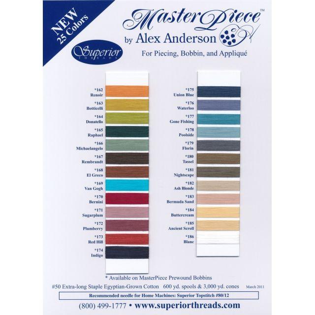 MasterPiece Cotton Thread 600 yds -156 Granite by Superior Masterpiece Thread Masterpiece Cotton Thread - OzQuilts