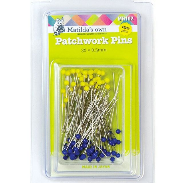 Matilda's Own Patchwork Pins (100) by Matilda's Own - Patchwork & Quilting Pins