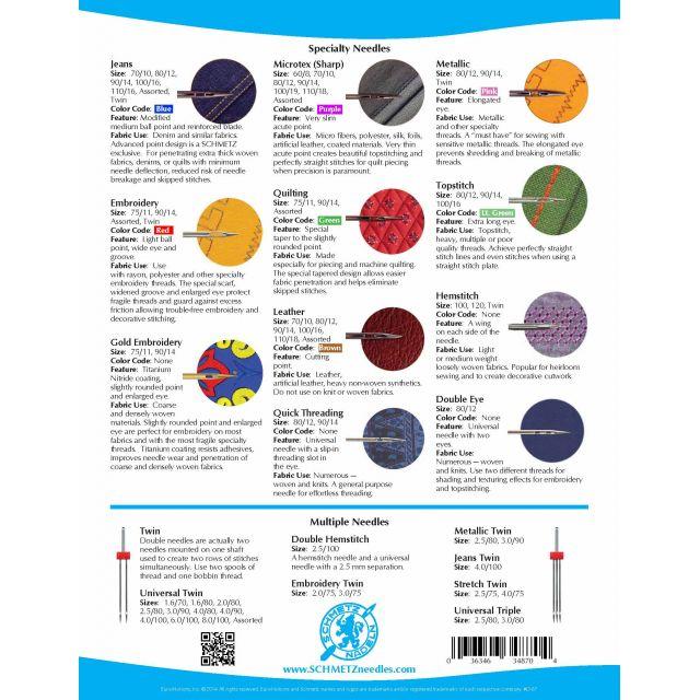 Schmetz Sharp Microtex, Machine Needles, Size 60/8 by Schmetz Sewing Machines Needles - OzQuilts