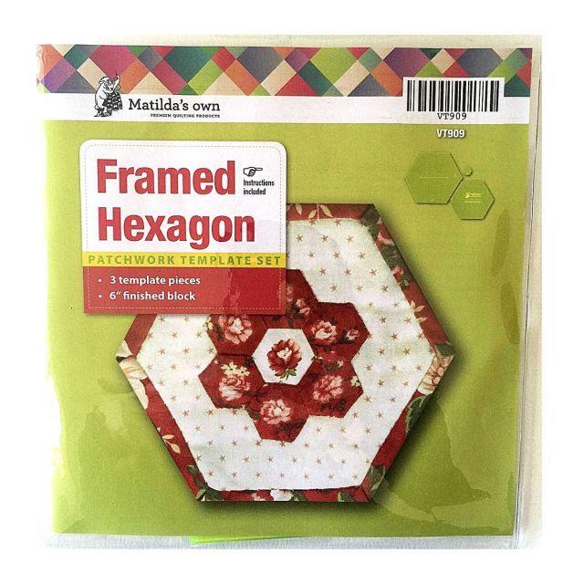 "Framed Hexagons 6"" Quilt As You Go Template Set by Matilda's Own - Quilt Blocks"