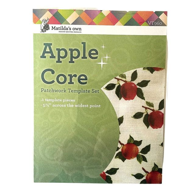"""Apple Core 4 ¾"""" template by Matilda's Own - Quilt Blocks"""