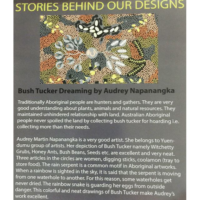 Bush Coconut Dreaming Brown Australian Aboriginal Art Fabric by Audrey Martin Napanangka by M & S Textiles Cut from the Bolt - OzQuilts