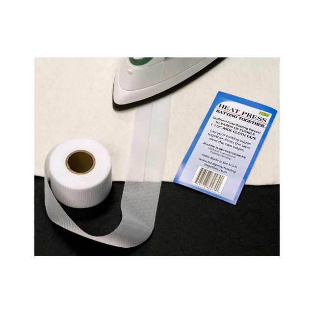 """Heat Press Batting Together , White , 1.5"""" wide x 15 yards by HPBT Inc Batting Spray, Tape & Accessories - OzQuilts"""