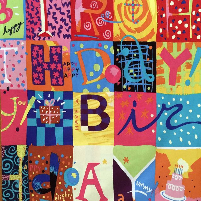 Birthday Celebrations Multi Patches Fabric by Free Spirit Fabrics Quilting Cotton Fabrics - OzQuilts
