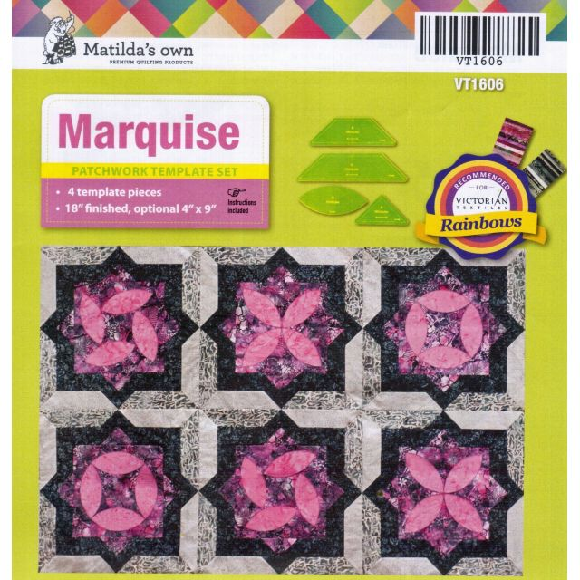 Matildas Own Marquise Patchwork Template Set by Matilda's Own Quilt Blocks - OzQuilts