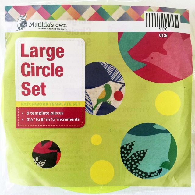 Matilda's Own Large Circles Patchwork Template Set by Matilda's Own Geometric Shapes - OzQuilts