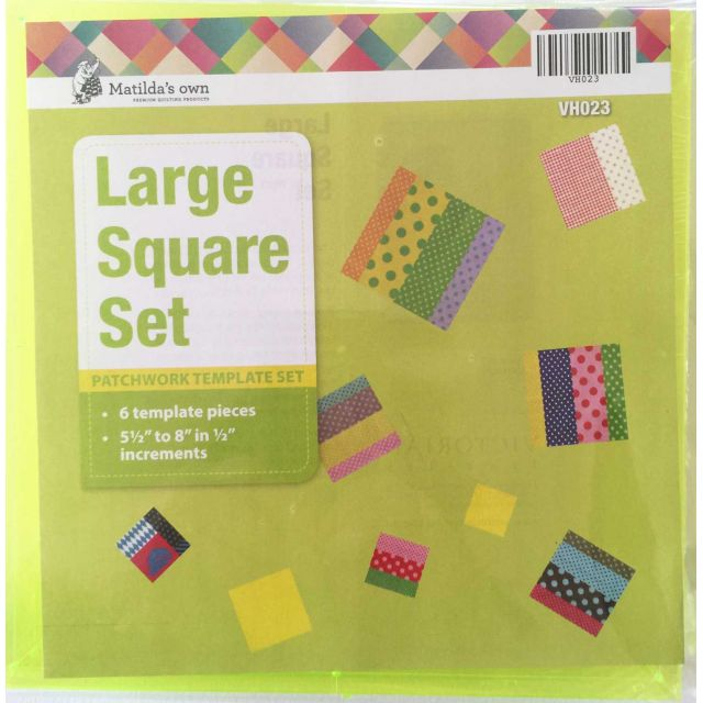 Matilda's Own Large Squares Patchwork Template Set by Matilda's Own Geometric Shapes - OzQuilts