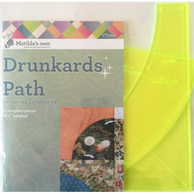 "Matilda's Own Drunkards Path 8.5"" Patchwork Template Set by Matilda's Own Quilt Blocks - OzQuilts"