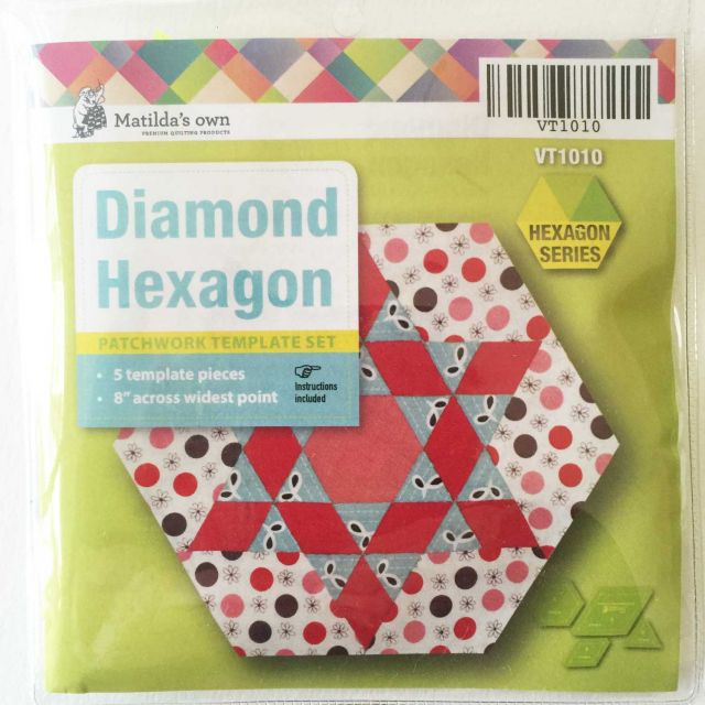 Matilda's Own Diamond Hexagon Patchwork Template Set by Matilda's Own - Quilt Blocks