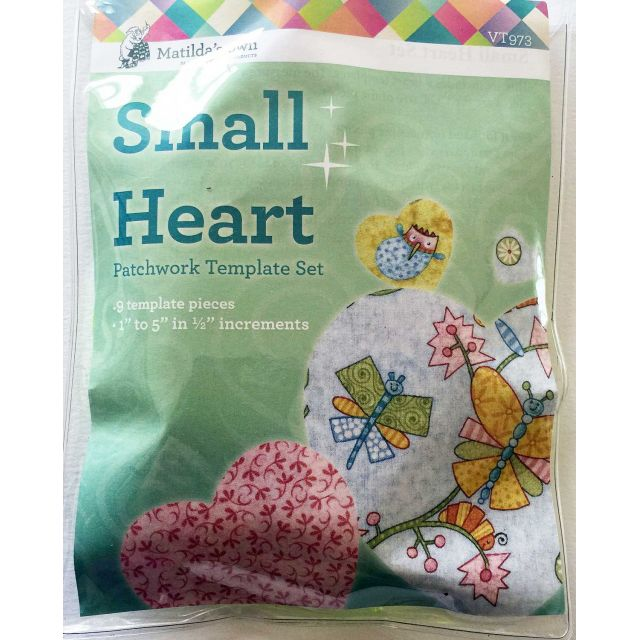 Matilda's Own Small Hearts Patchwork Template Set by Matilda's Own Geometric Shapes - OzQuilts