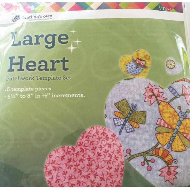 Matilda's Own Large Hearts Patchwork Templates Set by Matilda's Own Geometric Shapes - OzQuilts
