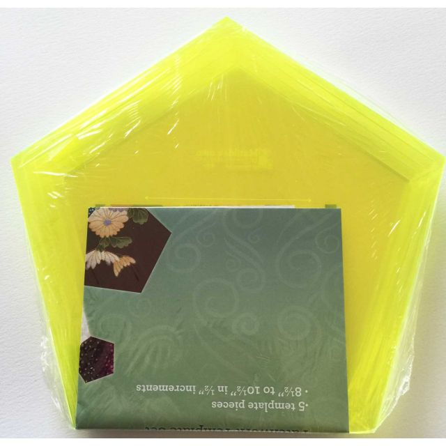 Matilda's Own Extra Large Pentagon Patchwork Template Set by Matilda's Own Geometric Shapes - OzQuilts