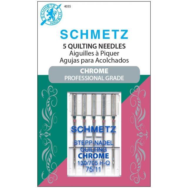 Schmetz Chrome Quilting Schmetz Needles Size 75/11 by Schmetz Sewing Machines Needles - OzQuilts