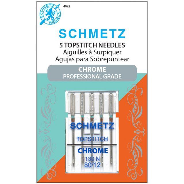Schmetz Chrome Topstitch Needle Size 80/12 by Schmetz Sewing Machines Needles - OzQuilts