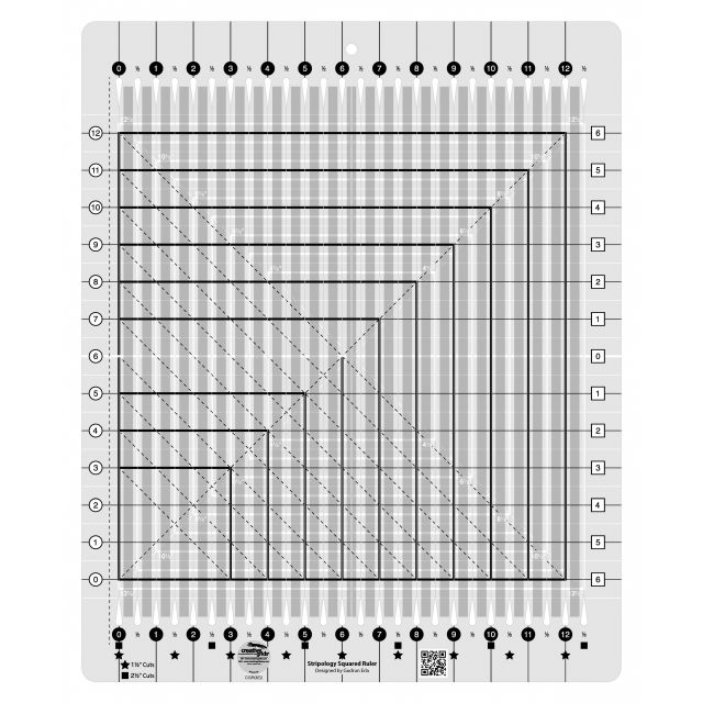 Creative Grids Stripology Squared Ruler by Creative Grids Great Gift Ideas - OzQuilts