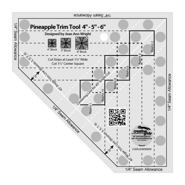 Creative Grids Pineapple Trim Tool Mini by Creative Grids - Log Cabin & Pineapple Rulers