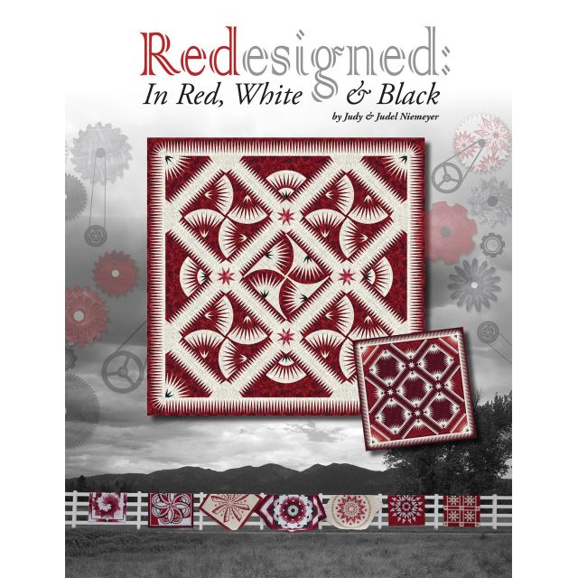 Redesigned in Red, White and Black by Judy Niemeyer by Quiltworx Paper Piecing - OzQuilts