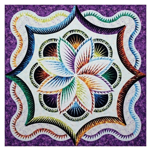 Rainbow Hosta Queen Size Pattern & Foundation Papers by Quiltworx Judy Niemeyer Quiltworx - OzQuilts