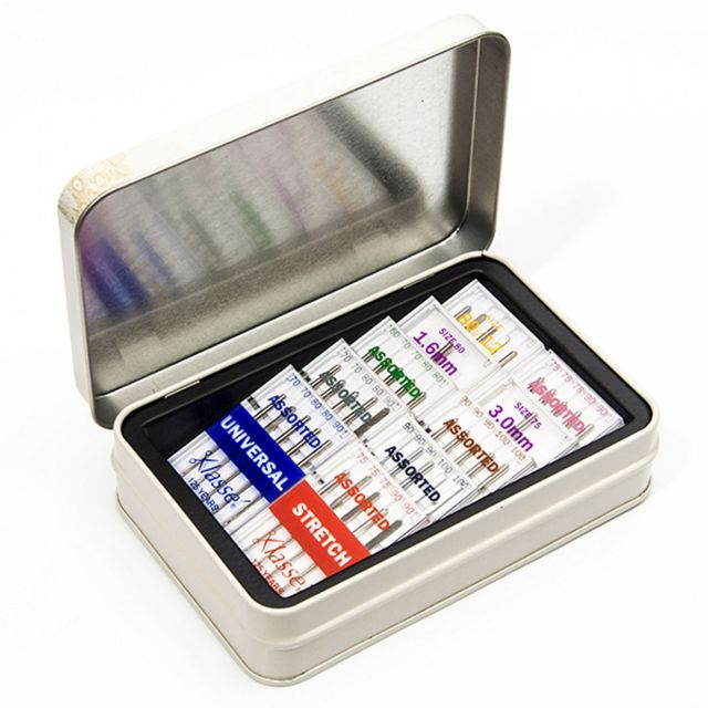 Klasse Needle Tin with 42 Assorted Sewing Machine Needles by Klasse - Sewing Machines Needles