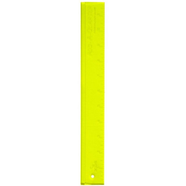 "Add a Quarter Ruler 12"" Yellow by CM Designs - Add A Quarter Rulers"