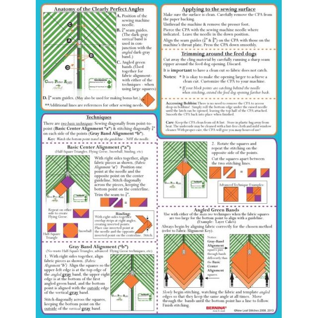 Clearly Perfect Angles by New Leaf Stitches Sewing Machine Accessories - OzQuilts
