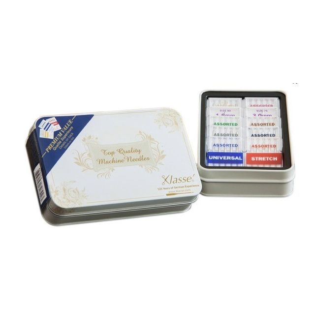 Klasse Needle Tin with 42 Assorted Sewing Machine Needles by Klasse Sewing Machines Needles - OzQuilts