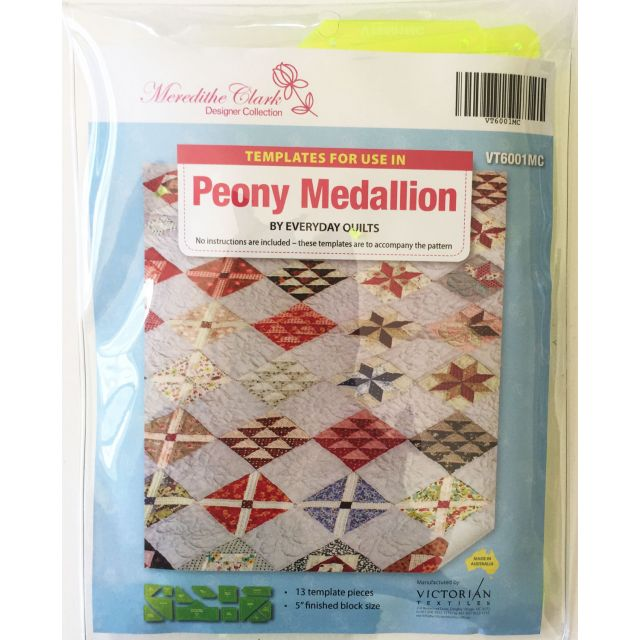 Peony Medallion Template Set - Meredith Clark Designer Collection by Matilda's Own Quilt Blocks - OzQuilts