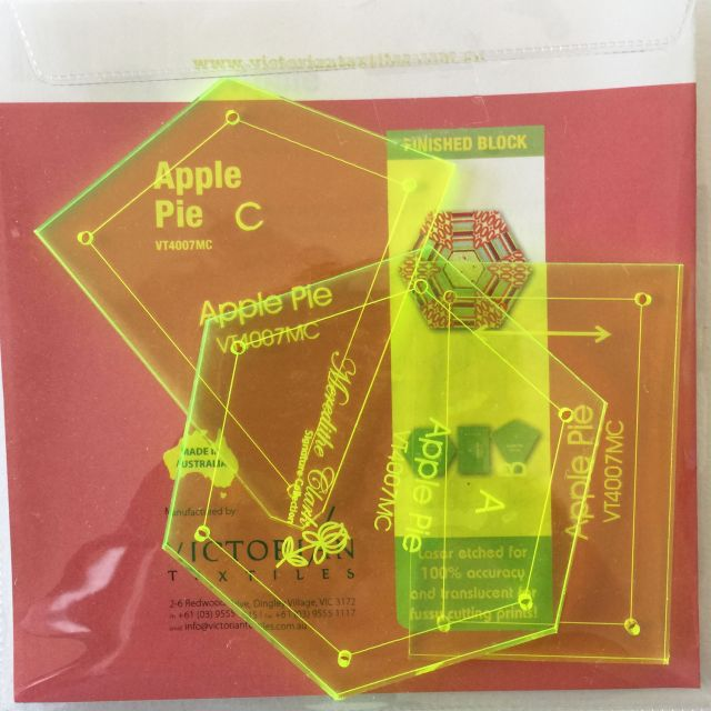 Matilda's Own Apple Pie Hexagon Patchwork Template Set by Matilda's Own Quilt Blocks - OzQuilts