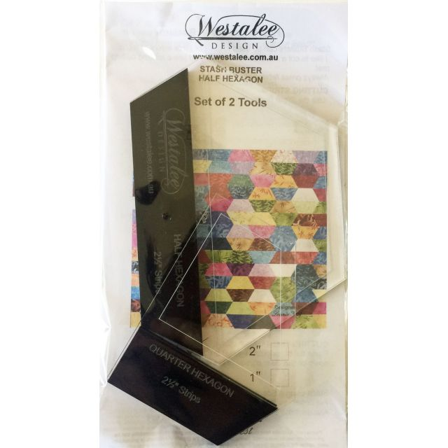 "Westalee Hexagon 2.5"" Stash Buster Set -suits 2.5"" strips by Westalee Quilt Blocks - OzQuilts"