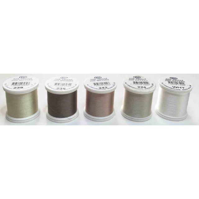 YLI Silk Thread, Neutral 5 spool assortment by YLI Thread YLI Silk Thread  - OzQuilts