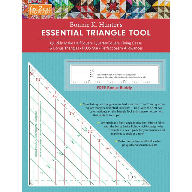 Fast2cut Bonnie K. Hunter's Essential Triangle Tool by C&T Publishing Triangle Rulers - OzQuilts
