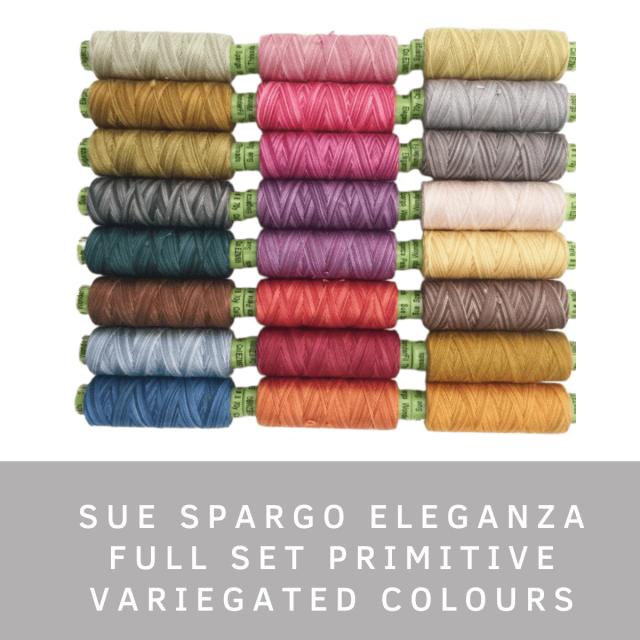 Sue Spargo Eleganza Primitive Full Set (Variegated Colours) by Sue Spargo Eleganza Perle 8 - Sue Spargo Eleganza Perle 8