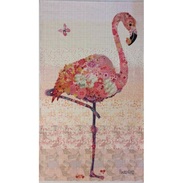 Pinkerton Flamingo Collage Pattern by Fiberworks Collage  - OzQuilts