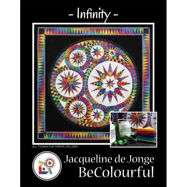 Infinity Pattern & Foundation Papers by Jacqueline de Jongue by BeColourful Quilts by Jacqueline de Jongue Patterns & Foundation Papers - OzQuilts