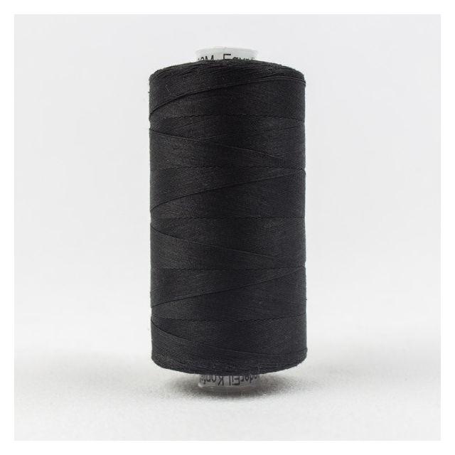 Wonderfil Konfetti 50wt cotton 1000 metres, Black (KT200) Thread by Wonderfil  Konfetti 50wt Cotton Solids - OzQuilts
