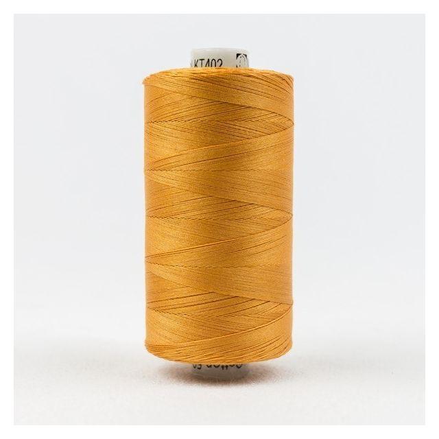 Wonderfil Konfetti 50wt cotton 1000 metres, Drab Orange (KT402) Thread by Wonderfil  Konfetti 50wt Cotton Solids - OzQuilts