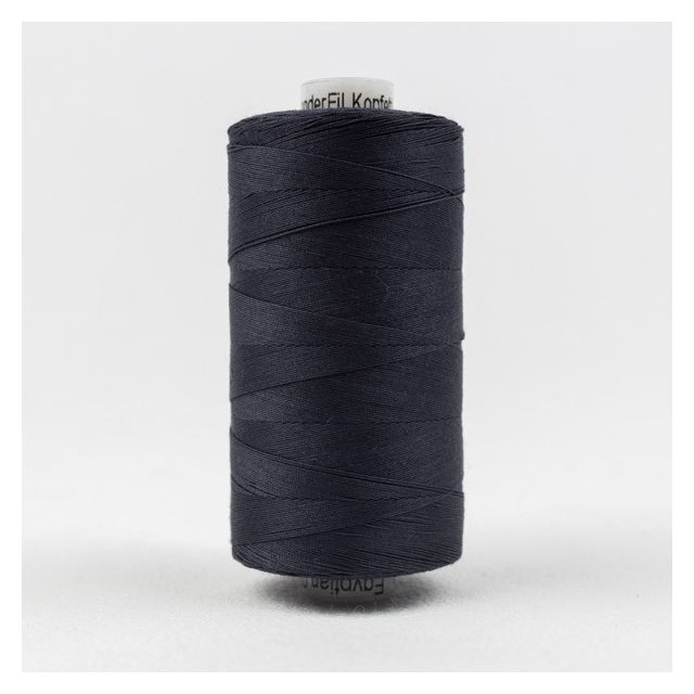 Wonderfil Konfetti 50wt cotton 1000 metres, Dark Navy (KT602) Thread by Wonderfil  Konfetti 50wt Cotton Solids - OzQuilts