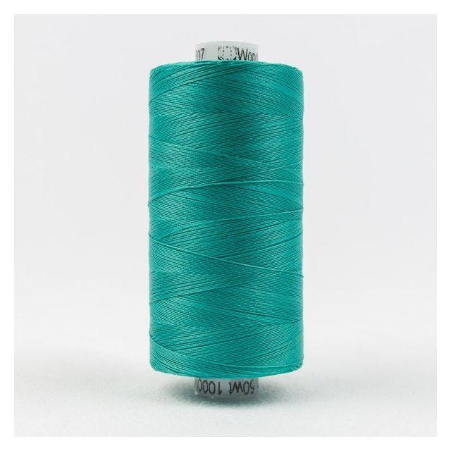 Wonderfil Konfetti 50wt cotton 1000 metres, Teal (KT607) Thread by Wonderfil  Konfetti 50wt Cotton Solids - OzQuilts