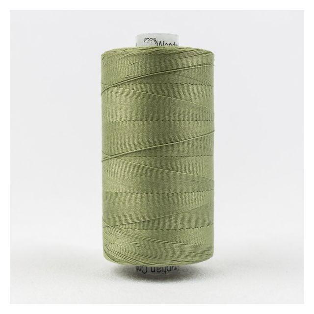Wonderfil Konfetti 50wt cotton 1000 metres, Sage Green (KT701) Thread by Wonderfil Konfetti 12wt Cotton Solid Colours Konfetti 50wt Cotton Solids - OzQuilts