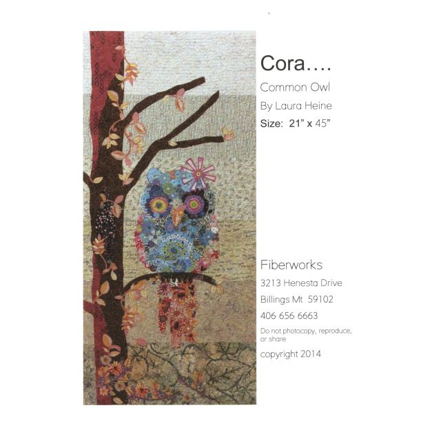 Cora the Common Owl Collage Pattern by Fibreworks Inc Collage  - OzQuilts