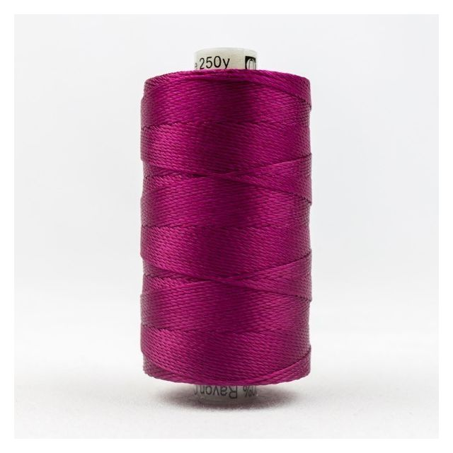 Wonderfil Razzle, Raspberry (RZ42) Thread by Wonderfil  Razzle 8wt Rayon - OzQuilts