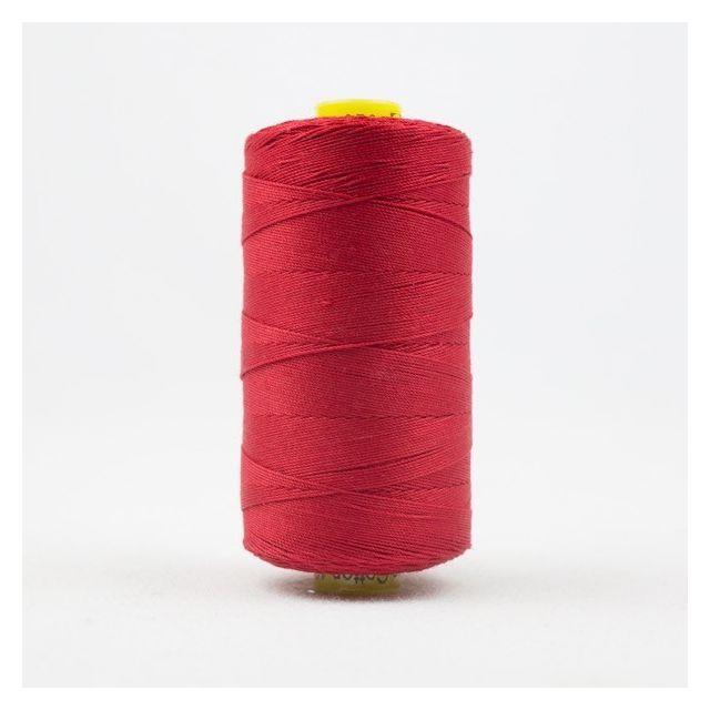 Wonderfil Spagetti 12wt cotton 400 metres, Bright Warm Red (SP01) Thread by Wonderfil  Spagetti 12wt Cotton Solids - OzQuilts