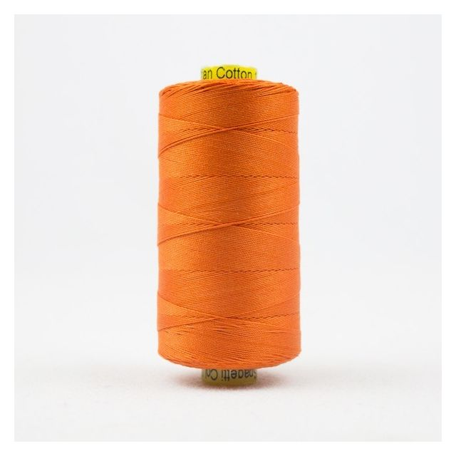 Wonderfil Spagetti 12wt cotton 400 metres, Fun Orange (SP02) Thread by Wonderfil  Spagetti 12wt Cotton Solids - OzQuilts