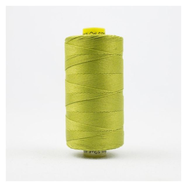 Wonderfil Spagetti 12wt cotton 400 metres, Chartreuse (SP04) Thread by Wonderfil  Spagetti 12wt Cotton Solids - OzQuilts