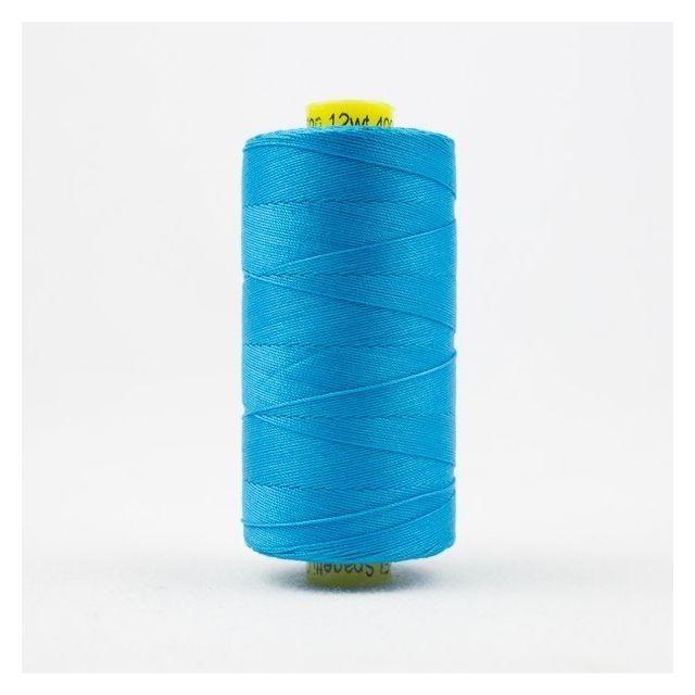 Wonderfil Spagetti 12wt cotton 400 metres, Turquoise (SP05) Thread by Wonderfil  Spagetti 12wt Cotton Solids - OzQuilts