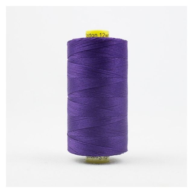 Wonderfil Spagetti 12wt cotton 400 metres, Deep Royal Purple (SP07) Thread by Wonderfil  Spagetti 12wt Cotton Solids - OzQuilts