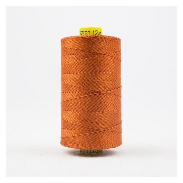 Wonderfil Spagetti 12wt cotton 400 metres, Dark Pumpkin (SP10) Thread by Wonderfil  Spagetti 12wt Cotton Solids - OzQuilts