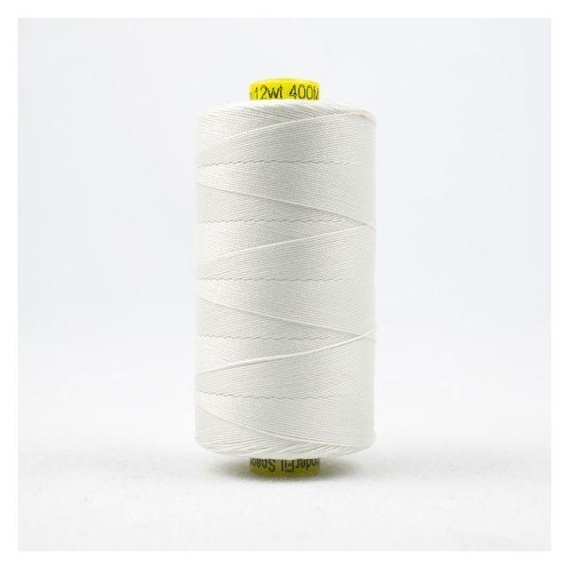 Wonderfil Spagetti 12wt cotton 400 metres, White (SP100) Thread by Wonderfil  Spagetti 12wt Cotton Solids - OzQuilts