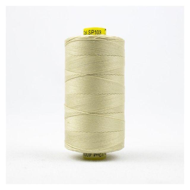 Wonderfil Spagetti 12wt cotton 400 metres, Vanilla (SP103) Thread by Wonderfil  Spagetti 12wt Cotton Solids - OzQuilts